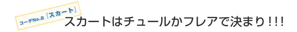 コーデNo.2「スカート」スカートはチュールかフレアで決まり!!!