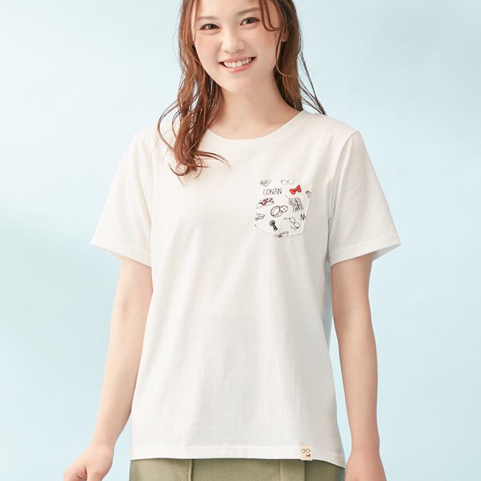 柄ポケットTシャツ