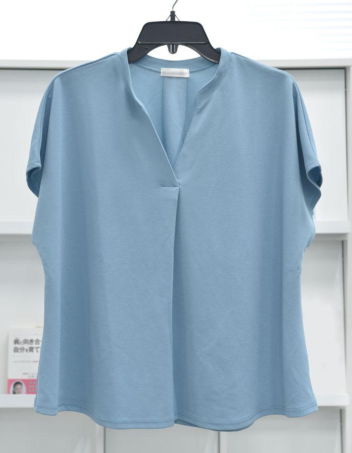 【4つの機能付】スキッパーTシャツブラウス