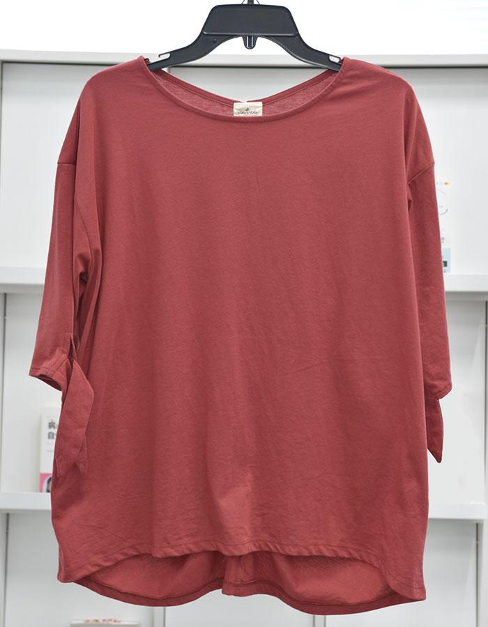 【5つの機能付】袖リボンゆるTシャツ