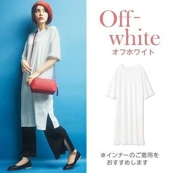 【S~LL】ポケット付ビッグシルエットTシャツワンピース