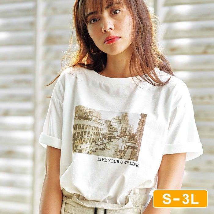 【堀田茜さん着用】綿100%機能付プリントTシャツ