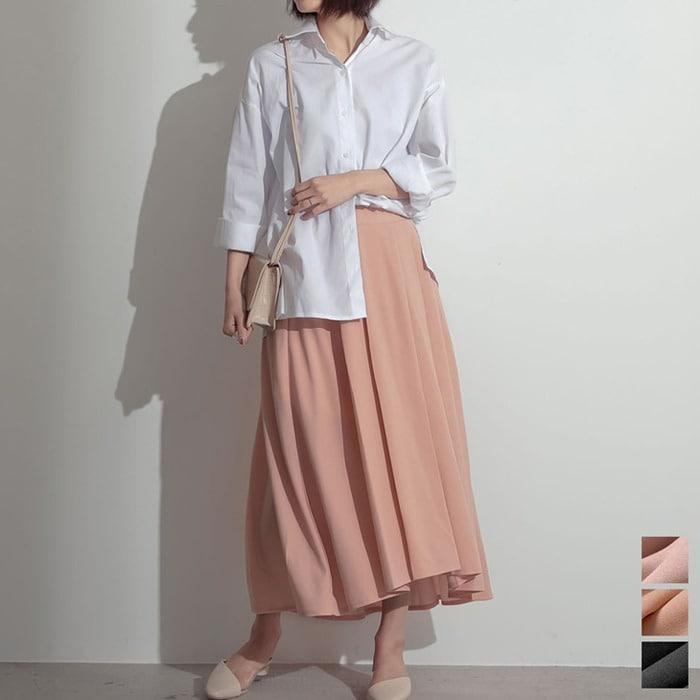Re: EDIT 「アウトレットプライス」その魅力は丈にアリ。ふわりと揺れる大人のフレア ジョーゼットポンチエンビフレアスカート スカート/スカート ピンク M レディース 5,000円(税抜)以上購入で送料無料 秋 レディースファッション アパレル 通販 大きいサイズ コーデ 安い おしゃれ お洒落 20代 30代 40代 50代 女性 スカート