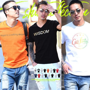 d4214cccd0b89 Tシャツ メンズ 服 半袖 ブランド Vネック クルーネック ポケット プリントストリート ロゴ大きいサイズ