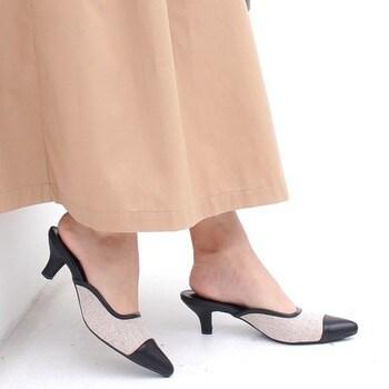《新色追加》スクエアカットミュールサンダル 6㎝ヒール トレンド フォーマル 通勤 オフィス 痛くない 歩きやすい 大きいサイズ 小さいサイズ CX1123